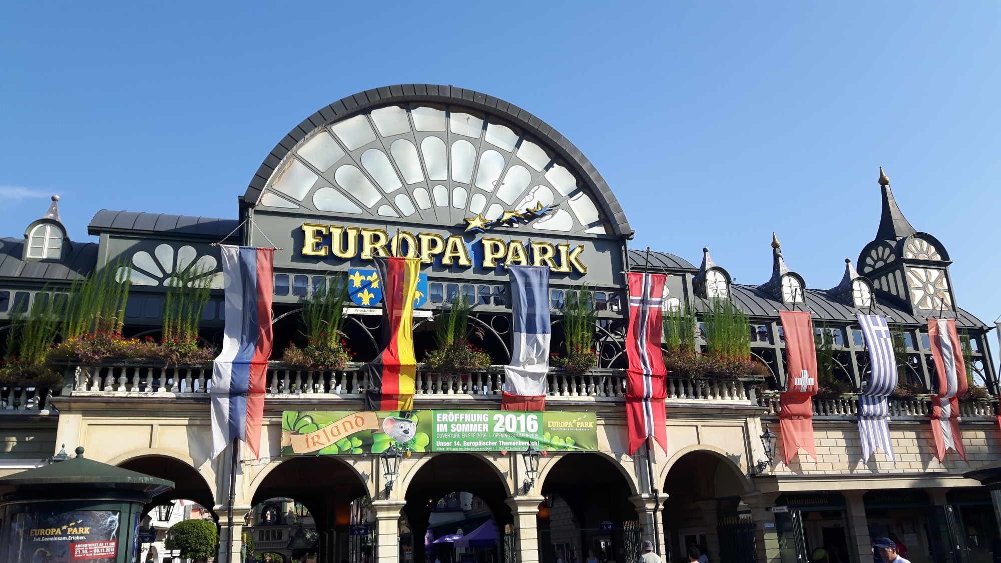 Week–end à Europa Park (plus grand parc d'attraction d'Europe après Disneyland) du 9 au 12 Août 2018