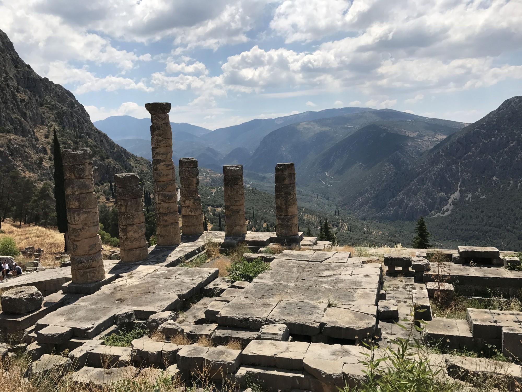 excursion au site archéologique de Delphes