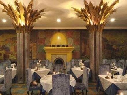 Salle de déjeuner à l'hôtel Tichka