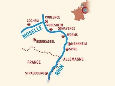 2 FLEUVES : Les vallées de la Moselle et du Rhin du 7 au 11 Octobre 2017